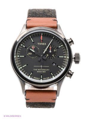 Часы TIMEX. Цвет: серебристый, темно-серый