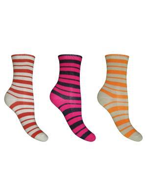 Носки, 3 пары Master Socks. Цвет: кремовый, зеленый, серый, фуксия