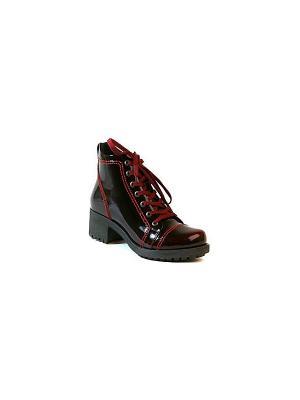Ботинки MILANA. Цвет: бордовый