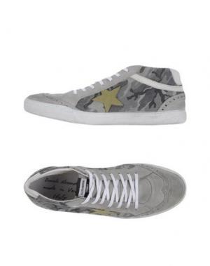 Высокие кеды и кроссовки DANIELE ALESSANDRINI. Цвет: серый