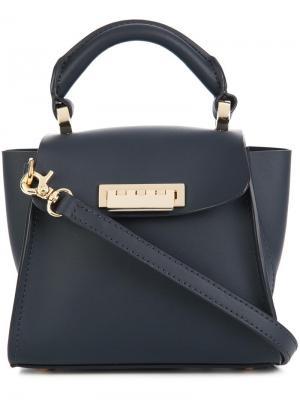Мини сумка через плечо Eartha Iconic Top Handle Zac Posen. Цвет: синий