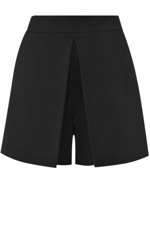 Мини-шорты со складками Alexander Wang. Цвет: черный