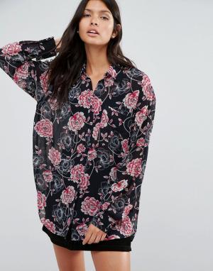 Pixie & Diamond Рубашка с цветочным принтом. Цвет: мульти