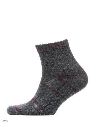 Комплект носков из 4х пар Columbia. Цвет: коричневый, желтый, серый, черный