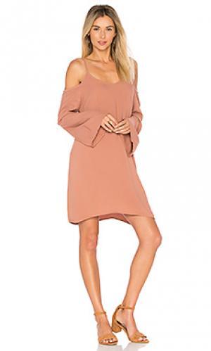 Платье с рукавами-колоколами gillis Michael Lauren. Цвет: коричневый