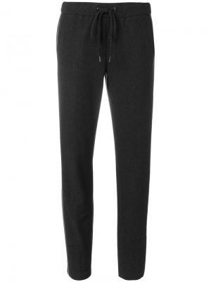Спортивные прямые брюки Cambio. Цвет: серый