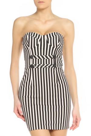 Яркое летнее платье Denny Rose. Цвет: черный, белый