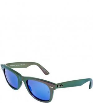 Солнцезащитные очки в пластиковой оправе Ray Ban. Цвет: фиолетовый