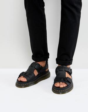 Dr Martens Черные сандалии Hayden. Цвет: черный