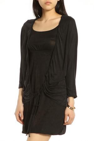 Элегантное платье в деловом стиле ERMANNO BY SCERVINO. Цвет: черный