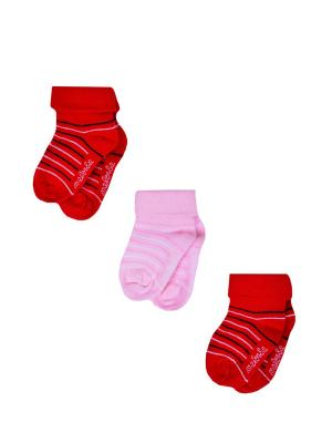 Носки Детские,комплект 3шт Malerba. Цвет: красный, белый
