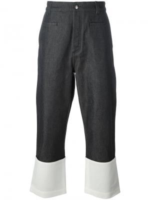 Широкие джинсы с контрастной полоской Loewe. Цвет: синий