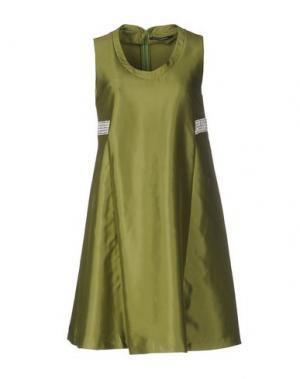 Короткое платье LA CAMICIA BIANCA. Цвет: зеленый-милитари