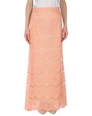 Длинная юбка PAOLA FRANI. Цвет: лососево-розовый