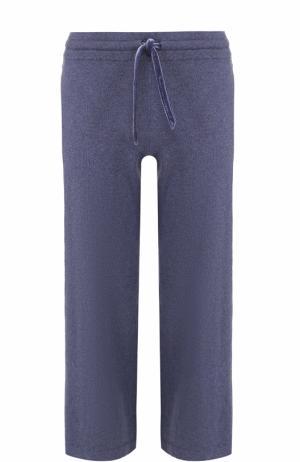 Укороченные хлопковые брюки с эластичным поясом Deha. Цвет: синий