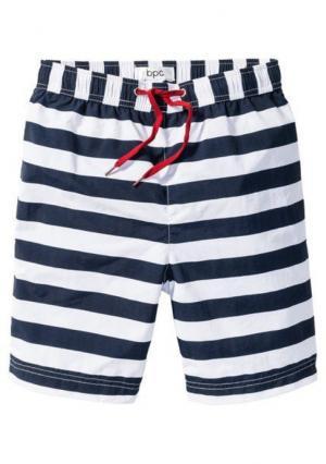 Пляжные шорты. Цвет: в клетку, в полоску