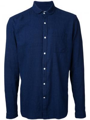 Рубашка с итонским воротником Oliver Spencer. Цвет: синий