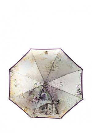 Зонт-трость Fabretti. Цвет: бежевый