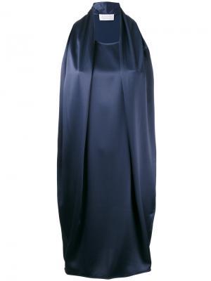 Платье без рукавов Gianluca Capannolo. Цвет: синий