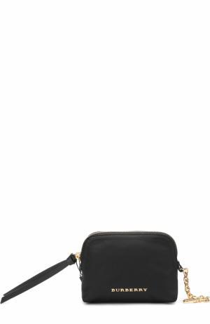 Текстильная косметичка-кошелек Burberry. Цвет: черный