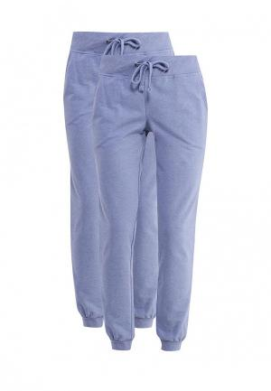 Комплект брюк 2 шт. oodji. Цвет: голубой