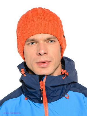 Шапка TREVOR Quiksilver. Цвет: оранжевый