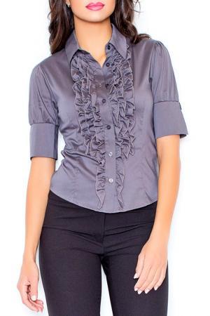 Рубашка Figl. Цвет: серый