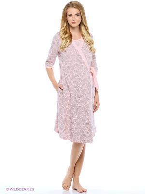 Комплект женский для беременных и кормящих Hunny Mammy. Цвет: розовый, серый