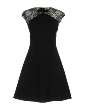 Короткое платье VICEDOMINI. Цвет: черный