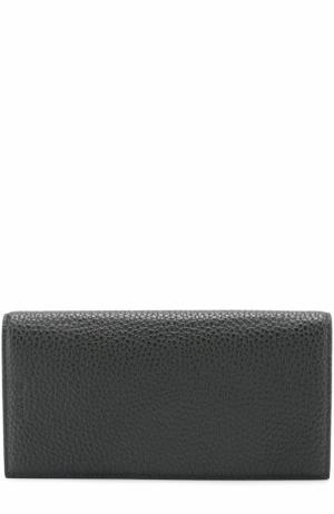 Кожаный бумажник с отделениями для кредитных карт и монет Bally. Цвет: зеленый