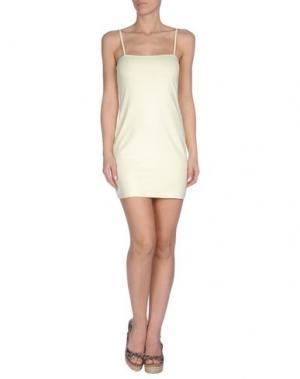 Пляжное платье AGOGOA. Цвет: светло-желтый