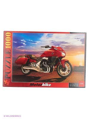 ПАЗЛЫ 1000 элементов  -Мотоцикл на закате Издательство Хатбер-пресс. Цвет: белый