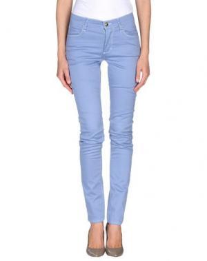 Повседневные брюки MONKEE GENES. Цвет: небесно-голубой