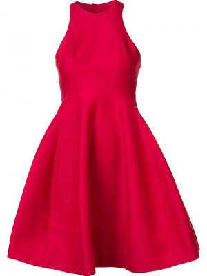 Расклешенное платье Halston Heritage. Цвет: красный