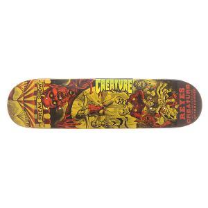 Дека для скейтборда  S6 Reyes Circus Of Damned 31.6 x 8.0 (20.3 см) Creature. Цвет: оранжевый,желтый,черный