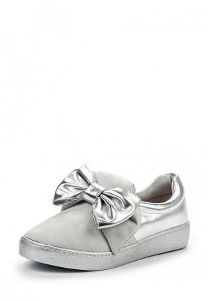 Слипоны Sweet Shoes. Цвет: серебряный