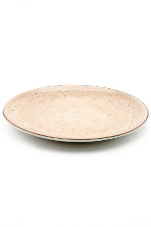 Тарелка мелкая круглая, 29 см CONTINENTAL. Цвет: коричневый