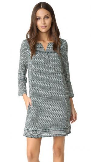 Платье с широкими рукавами Madewell. Цвет: идеальный темно-зеленый