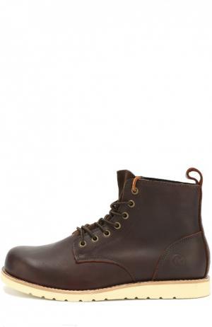 Кожаные ботинки Kazan на шнуровке Affex. Цвет: темно-коричневый