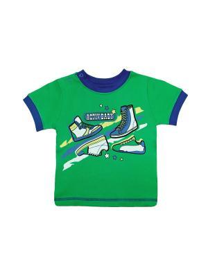Футболка Жанэт. Цвет: зеленый, синий