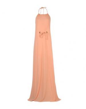 Длинное платье FISICO. Цвет: лососево-розовый