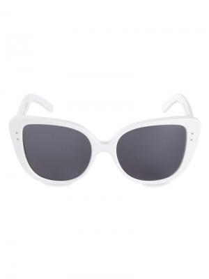 Солнцезащитные очки Selma Optique Le Bon Marche X The Webster. Цвет: белый
