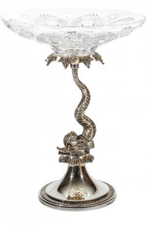 Ваза для центра стола Dolphin Tsar. Цвет: серебряный