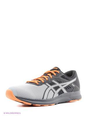 Кроссовки fuzor ASICS. Цвет: серый, оранжевый, белый