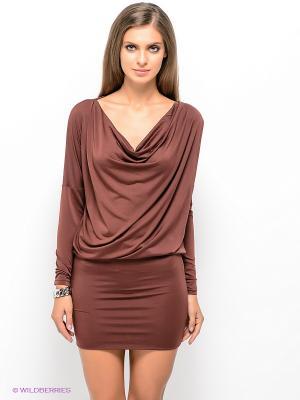 Платье SELECTED. Цвет: темно-коричневый