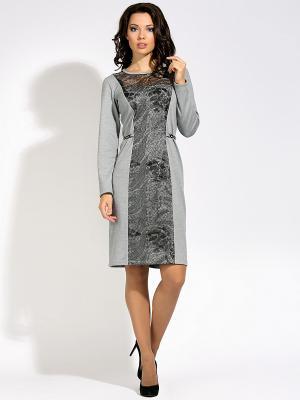 Платье D`imma. Цвет: светло-серый