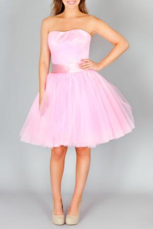 Коктейльное платье Faust. Цвет: розовый