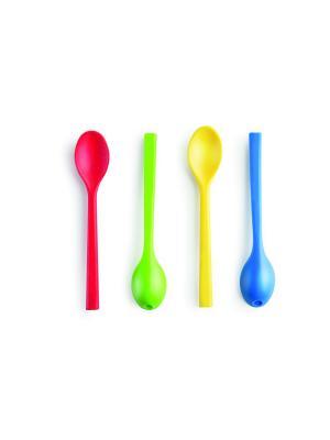 Ложка-трубочка Musli Caspar Donkey. Цвет: красный, желтый, синий, зеленый