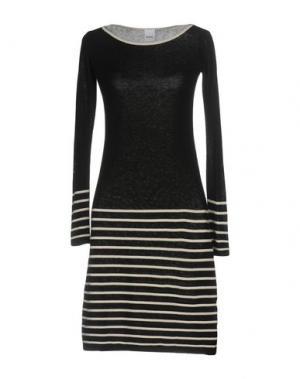 Короткое платье TENAX. Цвет: черный