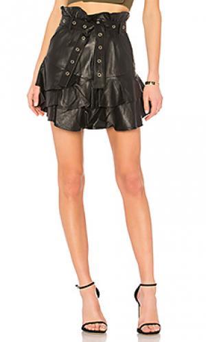 Кожаная юбка lena Marissa Webb. Цвет: черный